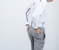 Now Available ! #GROUNDER  Light grey double belt wool trousers color: light grey material : wool fabric size : S , M , L   _
