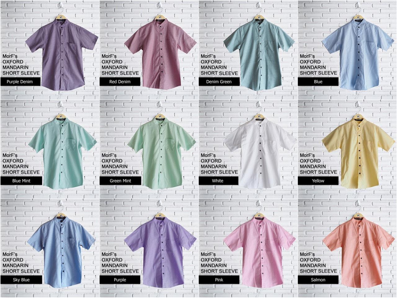 oxfordshirt,เสื้อเชิ้ต,เสื้อเชิ้ตแขนสั้น,พาสเทล,สีพื้น,เสื้อคอจีน,เสื้อคอเต่า,MorfClothes