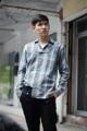 Fabric: Cotton Polyester Details: - เชิ้ตแขนยาว - ผ้าลายสก็อต สีเขียวอมเทา เฉดหินอ่อน - ทรง Regular Fit - กระดุมสีเงินด้าน - ปกเสื้อเหมือนเสื้อสูท - เส้นคาดกระดุมบริเวณหน้าอก  Size:  (1) Size S: รอบอก 37 นิ้ว ความยาวเสื้อ 27 นิ้ว (2) Size M-L: รอบอก 41 นิ้ว ความยาวเสื้อ 28 นิ้ว (3) Size XL: รอบอก 45 นิ้ว ความยาวเสื้อ 30 นิ้ว  ------------------------------------------------------- #men #ผู้ชาย #เสื้อผ้าผู้ชาย #เสื้อผู้ชาย #เสื้อเชิ้ต #เสื้อเชิ้ตผู้ชาย #เสื้อเชิ้ตแขนยาว