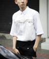 'Victor' Brown Belt Shirt Color: White  Fabric: Cotton 100% Details: - เชิ้ตแขน 5 ส่วน - ทรง Regular Fit - ซ่อนกระดุมกลางลำตัว - มีเข็มขัดสีน้ำตาลบริเวณกลางหน้าอก  Size:  (1) Size S: รอบอก 37 นิ้ว ความยาวเสื้อ 27 นิ้ว (2) Size M-L: รอบอก 41 นิ้ว ความยาวเสื้อ 28 นิ้ว (3) Size XL: รอบอก 45 นิ้ว ความยาวเสื้อ 30 นิ้ว  ------------------------------------------------------ #men #ผู้ชาย #เสื้อผ้าผู้ชาย #เสื้อผู้ชาย #เสื้อเชิ้ต #เสื้อเชิ้ตผู้ชาย #เสื้อเชิ้ตแขนสั้น #เสื้อเชิ้ตคอปก #เสื้อเชิ้ตสีขาว