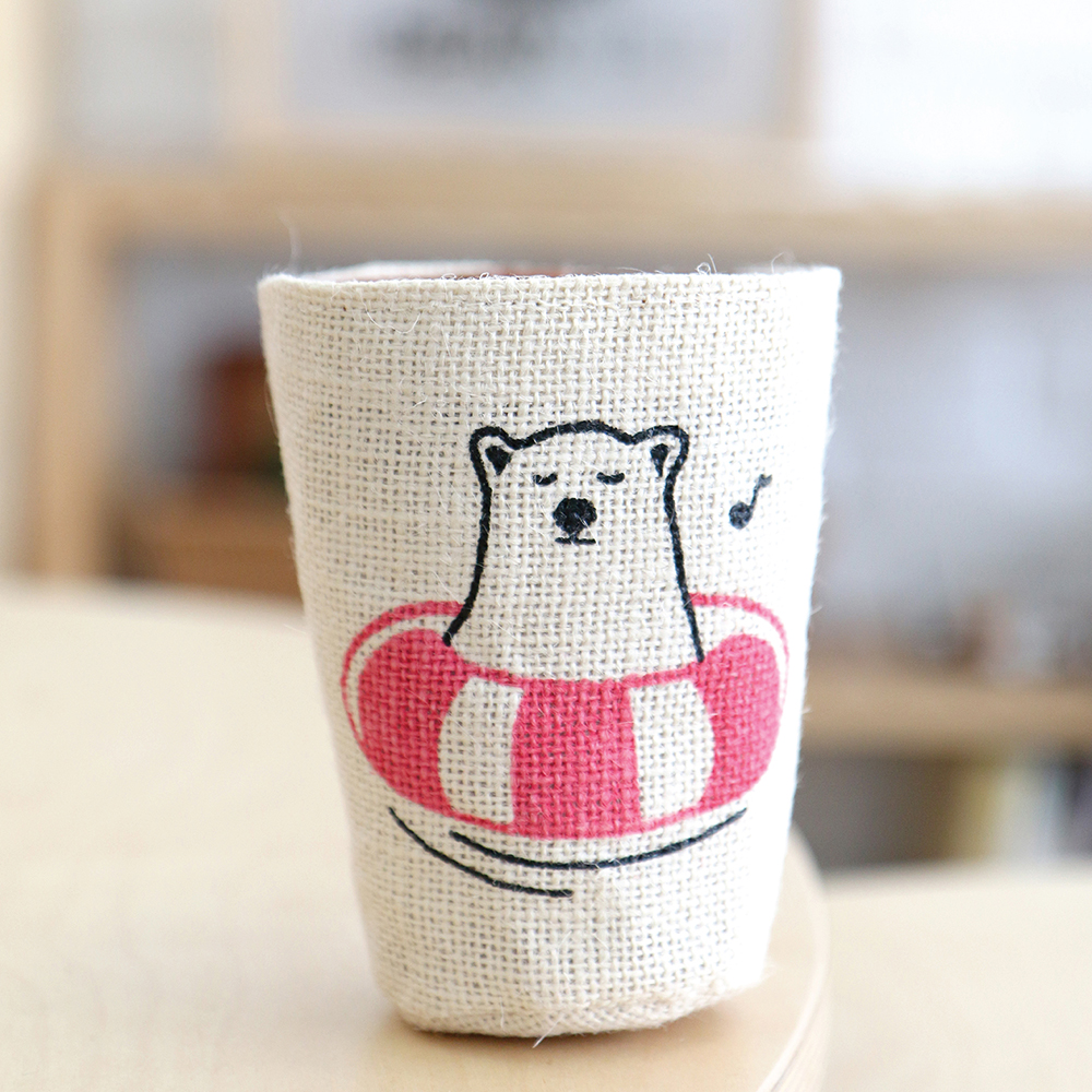 abearable,bear,homedecor,cupsleeve,cupcover,gift