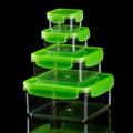 CUSHY ชุดกล่องถนอมอาหาร เซท 4 ชิ้น (Container Tritan) รหัสสินค้า : 8432CN002  ราคาสินค้า : 450 บาท ค่าจัดส่งประเภท EMS : 100 บาท รวมทั้งสิ้น : 550 บาท  รายละเอียดสินค้า  - ตัวกล่องผลิตจากพลาสติก Tritan เนื้อหนา แข็งแรง - ฝาปิดผลิตจากพลาสติก PP ปิดได้แน่นสนิท - BPA Free ปราศจากสารก่อมะเร็ง ไม่เป็นอันตรายต่อสุขภาพ - ใส่ได้ทั้งอาหารร้อนและเย็น ที่มีอุณหภูมิตั้งแต่ -15 ถึง 90 องศาเซลเซียส - เหมาะสำหรับบรรจุอาหารแห้ง ผลไม้ ขนม และอื่นๆ - จำนวน 4 ชิ้น/ชุด  อุปกรณ์ภายในชุด  - กล่องเล็ก ขนาด 9 x 9 x 5 ซม. น้ำหนัก 56 กรัม - กล่องปานกลาง ขนาด 10.5 x 10.5 x 6 ซม. น้ำหนัก 92 กรัม - กล่องใหญ่ ขนาด 17 x 17 x 7 ซม. น้ำหนัก 226 กรัม - กล่องพิเศษ ขนาด 20.5 x 20.5 x 9.5 ซม. น้ำหนัก 348 กรัม  คำแนะนำในการดูแลรักษา  - ควรทำความสะอาดก่อนและหลังการใช้งานทุกครั้ง - ล้างและทำความสะอาดด้วยน้ำยาอ่อนๆ เช็ดหรือผึ่งให้แห้ง - ห้ามโยน หรือกระแทกแรงๆ ระวังแตก - ควรวางให้ห่างจากเปลวไฟ - ห้ามใช้กับเตาไมโครเวฟ  หมายเหตุ : สีของสินค้าที่ปรากฎ อาจมีความแตกต่างกันขึ้นอยู่กับการตั้งค่าของแต่ละหน้าจอ  ---------------------------------------------------------------- #CUSHY #PRIM #FNOUTLET #Cushy #Prim #Fnoutlet #fnoutlet #Square #Container #Tritan #BPA #กล่องถนอมอาหาร #กล่องใส่อาหาร #กล่องอาหาร #กล่องพลาสติก #กล่องสูญญากาศ #กล่อง #ที่ใส่อาหาร #ที่ถนอมอาหาร #กล่องสี่เหลี่ยม #สลัด #กล่องสลัด #อาหาร #มะเร็ง #สารก่อมะเร็ง #เท่ห์ #โอปป้า #โอป๊ะ #อุ๊ต๊ะ #เรียบหรู #สวยใส #เกาหลี #ญี่ปุ่น #ชิค #ชิลๆ #เก๋ #กิ๊บเก๋ #น่ารัก