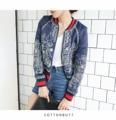 """NEW!!! Korea jacket เนื้อผ้าอย่างดี งานปักทั้งตัวหน้าหลัง เก๋มากค่า  Bust  38   """"   Length  19.5 """"  ขาว กรม"""