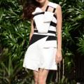 Fabric : ผ้าเปเป้ Color : white/black Size : S เอว 24-25 นิ้ว สะโพก 34-35 นิ้ว          M เอว 26-27 นิ้ว สะโพก 36-37 นิ้ว           L เอว 28-29 นิ้ว สะโพก 38-39 นิ้ว  Length : 16 นิ้ว     #peeht