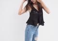 Black - Top knit color : black price : 590  #เสื้อผ้าผู้หญิง #เสื้อผู้หญิง #เสื้อสายเดี่ยว #สายเดี่ยว
