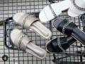 Z E I N N A - chain sandals  Color : Black / White / Grey Size : 36 - 40  Price : 490 thb  #zynstudio @zynstudio