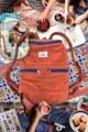 HBP rucksack - Size W 32 cm H 40 D 13 cm - Make vintage washed  -  YKK Zipper #5 - Made from 100% premium cotton fabric   #Hamblepie
