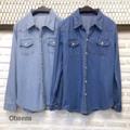 """Back in stock!!💓💓💓 ของเข้าเพิ่มพรุ่งนี้ ครบสีค่ะ ใครพรีไว้ มารับได้บ่าย1นะคะ ขายดี้ดี!!!! 👏👏👏  Denim shirt  เชิ้ตยีนส์ หรือจะใส่เป็นแจ้กเก้ตก็ได้ค่ะ ทรงเรียบ เท่ สไตล์เกาหลี ทรงสวย มีกระเป๋าหน้า ทำจากผ้ายีนส์เนื้อดี ผ้าเนื้อเบา นิ่ม ไม่หนามาก ใส่สบายมากค่ะ เป็นทรงสวย ใส่ได้ทุกโอกาส  2colors : Dark jean,Light jean (สียีนส์เข้ม,ยีนส์อ่อน)  Free Size: Bust (อก) 36"""" Length (ยาว) 26""""  #chickkstyle"""