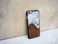 """Nympheart veneer case My name """"Marble"""" Teak wood and Epoxy resin เพื่อตอบสนองความต้องการความเป็นเอกลักษณ์เฉพาะตัว ! เคสขอบยางกันกระแทก ข้างหลังแผ่นไม้สักแผ่นบาง - สามารถเลือกรุ่นได้ iPhone / Sumsung (หากสนใจรุ่นอื่นๆ ลองคุยรายละเอียดได้ค่ะ) - เลือกสีของขอบกันกระแทกได้ ดำ / ขาว (หากเลือกสีขาวอาจทำให้สีของ epoxy resin อ่อนลงกว่าปกติได้) - ตัวเคสเปิดหัวและท้าย  - ใช้เวลา 10 วัน (ไม่รวมวันหยุด) - ไม่สามารถกำหนดลายไม้ได้ ลวดลายจะแตกต่างกันตามธรรมชาติ - สีของ Epoxy resin อาจแตกต่างจากรูปบ้างเล็กน้อย เพราะเป็นงานทำมือทุกชิ้นค่ะ  สนใจสั่ง inbox ได้เลยค่า"""