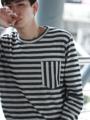 Fabric: French Terry  Description:  - เสื้อยืดแขนยาว - ผ้าเนื้อนุ่ม ทอลายเห็นชัด - กระเป๋าเสื้อวางลายขวางกับตัวเสื้อ  Size:  (1) Size S: รอบอก 37 นิ้ว ความยาวเสื้อ 26.5 นิ้ว (2) Size M-L: รอบอก 41 นิ้ว ความยาวเสื้อ 27 นิ้ว (3) Size XL: รอบอก 45 นิ้ว ความยาวเสื้อ 29 นิ้ว  Price: 690 บาท