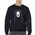 Spirited a bear, Sweatshirt  1 of Spirited A Bear series  Embroidery Jacket hoodie Inspired by Kaoneshi from 'Spirited Away', top of mind animation!  (When the bear transform to Noface!)  Materials: 50%Cotton 50%Polyester Color : Black Pattern: Unisex  Good for fall/spring weather or wearing inside during the winter