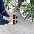 'Circlet Suede Slide shoes' ใหม่ล่าสุด!! รองเท้าแตะหนังกลับสุดชิคเพิ่มลูกเล่นด้วย belt วงกลมเก๋ๆ ใส่ได้ทุกโอกาสเลยค่ะ Size : 37-41 (another size can be made to order) Color : Black/Grey/Yellow mustard  #coquetshoes