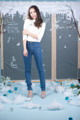 """""""Candle Jeans""""  Color : Mid Blue Price : 1,840 Baht  *High Waist* XS : Waist 23-24 Hip 33-34 S : Waist 25-26 Hip 35-36 M : Waist 27-28 Hip 37-38 L : Waist 29-30 Hip 39-40 XL : Waist 31-32 Hip 41-42  Contact"""