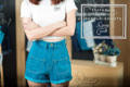 """""""Candle Shorts""""  Color : D.O. Blue Price : 940 Baht  S : Waist 25-26 Hip 35-36 M : Waist 27-28 Hip 37-38 L : Waist 29-30 Hip 39-40 XL : Waist 31-32 Hip 41-42"""