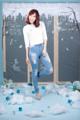 """Classy Jeans""  Color : Faded Light Blue Price : 1,640 Baht  *Mid Waist*  XS : Waist 23-24 Hip 33-34 S : Waist 25-26 Hip 35-36 M : Waist 27-28 Hip 37-38 L : Waist 29-30 Hip 39-40 XL : Waist 31-32 Hip 41-42  **สำหรับรุ่น Classy Jeans มีไซส์ XS สำหรับสาวตัวเล็กแล้วนะคะ**  Contact  Msg FB: https://www.facebook.com/messages/denimornate Line1 : @denimornate Line2 : denimornate Email : denimornate@gmail.com Tel : 063-225-0189"