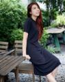 Kiri Dress . เดรสผ้ายืดคอกลมแขนสั้น เนื้อผ้าใส่สบายมากค่า ไม่ฟิตน้า ☺️ . Color: Black Size: Free size Price: 890THB