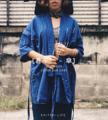 [甚平。 - 傘] : JINBEI - kasa : JINBEI with hoodie : 1,590 B free ems shipping : blue jeans