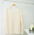001. เสื้อ Sweater : เสื้อแขนยาว นิตติ้ง ไหมพรมญี่ปุ่น สีครีม (free size รอบอก 40-45)  ราคา : 200 THB