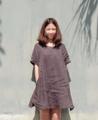 New colour Added !  อีกหนึ่งรุ่นยอดนิยม Public Holiday สีSmoke Grey สีสวยยยยยย เทาอมเขียว ใส่ง่าย ใส่ได้ทุกโอกาส   -------------------------------------------------------- #ผู้หญิง#Women #เดรส #dress #เดรสกระโปรงสั้น#เดรสแขนสั้น