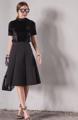 Skirt SWK 690.- กระโปรงทรงสวิงผ้าเด้ง มีลายในตัว แมทกับอะไรก็สวยค่ะ ดูดีดูแพงมากๆ  #ภาพถ่ายจากสินค้าจริง