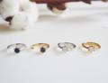 Promise ring. Gemstone Black quartz, White quartz Available in Silver, Gold plated  ----------------------------------------------- #women #ผู้หญิง #เครื่องประดับ #เครื่องประดับผู้หญิง #แหวน