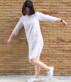 apanese beige dress