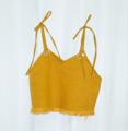 Mustard tie cami เสื้อสายเดี่ยวสีเหลือง  --------------------------------------------------- #women #ผู้หญิง #เสื้อสายเดี่ยว #เสื้อผู้หญิง