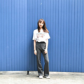[Pants] High-waisted bootcut [ Grey ]  color : grey size : s m l Price : 890 THB