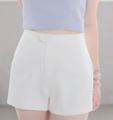 Stock added  Plain shorts - white 800 baht