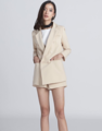 """Classic Blazer set"" Color: cream/white Chest 34"" waist 26"" hips 36"" Price: 1,990.-"