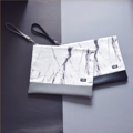 !! New Arrival 2016  !! ❤️ Marble Clutch A4 Bags Collection ❤️  กระเป๋าผ้าพิมพ์ลายหินอ่อนสุด Intrend  แนว minimal ผสม Premium PU อย่างดี สำหรับการแต่งตัวสบายๆ แต่ดูหรูหรา classic ทันสมัย อะไหล่สีเงินแข็งแรงทนทาน กระเป๋าผ้าแคนวาสลายหินอ่อน ดูสวยหรู ผสมหนัง Premium PU มี สายสะพายหนังสีดำ  ซิป nylon ykk มีซับในกันกระแทกอย่างดี ใส่หนังสือขนาด A4 ได้ **แต่ละใบลายจะไม่เหมือนกันนะคะ**  Material: PU+Canvas Size: W33*H25.5 cm.  Color: Black /Grey