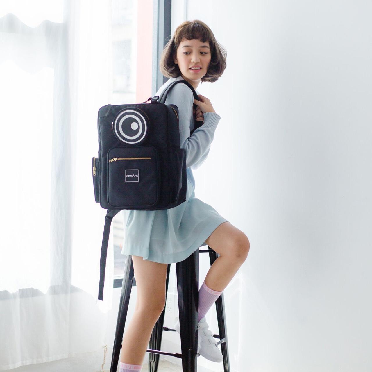 BLACK,lookame,backpacklookame,travel,bag,backpack,travelstuff,lookàme,sneaker,shopeeth,Lookame