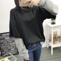 """#ALL_ALL4201 ✅240.- (ส่งฟรี) . Double Tee Long เสื้อยืดแขนยาว แบบมาใหม่ ผ้ายืดเนื้อดี ใส่สบายไม่ร้อนเลยค่ะ ใส่ออกมาน่ารักนะคร้า . ✅240.- (ส่งฟรี) #ALL_ALL4201 . ดำ / เทา . อก 40"""" ยาว 24"""" . 🔰ส่งของเฉพาะ จ พ ศ 🔰เสื้อผ้า ส่งฟรี!! แบบลงทะเบียน  (ตัวต่อไปเพิ่มตัวละ 10.-) 🔰เสื้อผ้า ส่งแบบ ems เพิ่ม 30.-  (ตัวต่อไปเพิ่มตัวละ 10.-) 🔰ตัดรอบแพคสินค้า 22.00 น. โอนหลังสี่ทุ่ม จะจัดส่งสินค้ารอบถัดไปนะคะ 🔰แจ้ง Tracking ช่วงค่ำจร้า . #เสื้อผ้าสไตล์เกาหลี #เสื้อผ้าแฟชั่น #เสื้อผ้าแฟชั่นเกาหลี #พร้อมส่ง #koreastyle #koreafashion #ส่งฟรี . ห้ามนำรูปไปใช้ก่อนได้รับอนุญาต . #สั่งช้าของหมด #อดสวยนะคะ #Allgirlsconcept"""