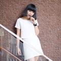 Total look pastel set in white (crop top + aline skirt) #actuallywear