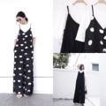 """♡ IN STOCK SET JUMPSUIT ♡    ชุดหมีสายเดียวขายาวมีกระเป๋าข้าง  มีเสื้อตัวในให้ด้วยนะคะ น่ารักสุดๆ ทรงสวยใส่สบาย ตัวในผ้า ไหมพรมเนื้อนิ่ม ชุดหมี  cotton ทอ มี2สี   ดำ/จุด   ♡SIZE♡ อก       (bust) - 32""""-34"""" เอว     (waist) - 24- 30 สะโพก (hips) - 38"""" ยาว   (length) - 49 """"""""""""เป้าไม่รั้งนะ""""""""""""   #Clothmaker"""