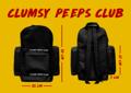 "clumsypeepsBackpack   ขนาด 50x33 cm , ด้านในบุฟองน้ำสำหรับใส่ Laptop 13,15,17"""