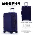"""กระเป๋าเดินทาง รุ่นP020 สีน้ำเงิน Darkblue ขนาด 20 นิ้ว ราคา 2,950 บาท ขนาด 24 นิ้ว ราคา 3,450 บาท ขนาด 28 นิ้ว ราคา 3,950 บาท  **รับประกันสินค้าสองปีเต็ม** *แถมฟรี ผ้าคลุมกระเป๋า*  น้ำหนักกระเป๋า ขนาด หนา*กว้าง*สูง (รวมล้อ) 20"""" 3.50 kg 23cm*38cm*54cm จุ 35L 24"""" 4.50 kg 25cm*43cm*66cm จุ 52L 28"""" 5.80 kg 30cm*51cm*76cm จุ 86L  - ผลิตจากวัสดุ ABS ผสม PC คุณภาพ - โครงอลูมิเนียม น้ำหนักเบา - คันชักคู่ผลิตจากอลูมิเนียมคุณภาพสูง - แข็งแรงทนทานและเงาสวย - กันน้ำ เช็ดทำความสะอาดได้ง่าย - 4 ล้อหมุนอิสระ 360 องศา ใช้ระบบเข็นได้ - มีรหัสล็อคกระเป๋า 3 หลัก ระบบ TSA มาตราฐานอเมริกา - แข็งแรงทนทาน น้ำหนักเบา  Line : @moof49 (มี@นำหน้านะคะ) IG : moof49 Tel : 089-251-5549 E-mail : moofofficial@gmail.com www.facebook.com/moof49"""
