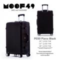 """กระเป๋าเดินทาง รุ่นP020 สีดำ Piano black  ขนาด 20 นิ้ว ราคา 3,450 บาท ขนาด 24 นิ้ว ราคา 3,950 บาท ขนาด 28 นิ้ว ราคา 4,450 บาท  **รับประกันสินค้าสองปีเต็ม** *แถมฟรี ผ้าคลุมกระเป๋า*  น้ำหนักกระเป๋า ขนาด หนา*กว้าง*สูง (รวมล้อ) 20"""" 3.50 kg 23cm*38cm*54cm จุ 35L 24"""" 4.50 kg 25cm*43cm*66cm จุ 52L 28"""" 5.80 kg 30cm*51cm*76cm จุ 86L  - ผลิตจากวัสดุ ABS ผสม PC คุณภาพ - โครงอลูมิเนียม น้ำหนักเบา - คันชักคู่ผลิตจากอลูมิเนียมคุณภาพสูง - แข็งแรงทนทานและเงาสวย - กันน้ำ เช็ดทำความสะอาดได้ง่าย - 4 ล้อหมุนอิสระ 360 องศา ใช้ระบบเข็นได้ - มีรหัสล็อคกระเป๋า 3 หลัก ระบบ TSA มาตราฐานอเมริกา - แข็งแรงทนทาน น้ำหนักเบา  Line : @moof49 (มี@นำหน้านะคะ) IG : moof49 Tel : 089-251-5549 E-mail : moofofficial@gmail.com www.facebook.com/moof49"""