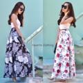 กระโปรงลายดอก ทรงยาวผ้าโฟม จับระบายเป็นทรงสวย เอวยืดมีซิป ผ้าอยู่ตัว ใส่แล้วทรงสวยแน่นอนจ้า  Freesize เอวยืด26-32  ยาว40  2สี พื้นดำ พื้นขาว   #chickkstyle