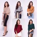 """C h l o e'   K n i t   B l o u s e  Best Seller ❤️  เสื้อ Knit รุ่น Zara ผ้า knitคุณภาพดี (เนื้อไม่ขึ้นขน) ทอแน่น  งานคุณภาพค่ะ ใส่เป็นเสื้อทรงปาดไหล่ หรือ เปิดไหล่ข้างเดียวก็ได้ค่ะ น่ารัก ดูดีมาก ควรมีติดตู้ค่ะ  5 Colors:  Nude, Grey, Brown, Green and New Color: Maroon*  One Size  รอบอก      : 54""""  ยืดได้มาก วงแขน       : 24"""" ชายเสื้อ     : 33"""" ยืดได้ถึง 42"""" ความยาว  : 17.5""""   #chickkstyle"""