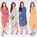 "S e a s o n a l   D r e s s   S h i r t Premium  Dress Shirt สีสวย  เนื้อผ้า และ งานเย็บ คุณภาพ premium ผ้า Lila spandex  สวยมาก  ใส่ได้หลายโอกาส  4 colors: Blue, Yellow, Green and Red  One Size  รอบอก   : 44"" วงแขน    : 20"" รอบเอว   : 44"" สะโพก    : 46"" ความยาว: หน้า 39""/ หลัง 42""  #chickkstyle"