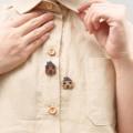 """TOP :: Home-Town Shirt :: ~ Honey Bee color ~ cotton-linen ~ chest 42"""" ~ front's length 22.5"""" ~ back's length 24.5"""" ** บ้านน้อย2หลังที่ติดอยู่เป็นกระดุมพลาสติกนะคะ ติดมาให้พร้อมกับตัวเสื้อเลยค่ะ   Price 490 THB. 👇 #katji"""