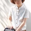 "TOP :: mini pocket เสื้อแขนสั้น :: • japanese cotton • Chest 39"" • Length 21"" • Waist 40"" • Shoulder Line 15"" Identity of this cloth is two pockets in front **ผ้าคอตตอลญี่ปุ่นเนื้อนิ่มค่ะ ใส่สบาย  Price 590 THB. 😄 #katji"