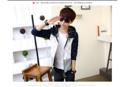*พร้อมส่ง * KE46 เสื้อแจ็คเก็ตแขนยาว แฟชั่น   น้ำเงิน-M,L,XL