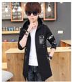 *พร้อมส่ง * KD87 เสื้อกันหนาวมีฮู้ด  ดำ-M,L,XL