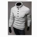 *พร้อมส่ง  * เสื้อกันหนาวแขนยาว เทา-M,L,XL,XXL ,  น้ำเงิน -XL,XXL