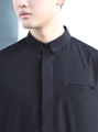 grounderbkk#GROUNDER  Black double figure collar shirt material : cotton fabric  color : black size: s, m, l price : 1090  Unique from #GROUNDER