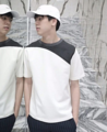#GROUNDER   White combine black arch T-shirt color: White size : Freesize price : 790 THB