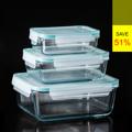 **ราคาปกติ 1,420 บาท  PRIM กล่องแก้วถนอมอาหาร เซท 3 ชิ้น (Glass Food Container Rectangle Shape Set of 3 PCS) รหัสสินค้า : 8388GF010690  - ผลิตจากแก้วบอโรซิลิเกตเป่าปาก เนื้อหนา - ทนต่อการกระแทกได้ดีกว่าแก้วทั่วไปถึง 3 เท่า - ทนต่อความร้อนและการเปลี่ยนแปลงอุณหภูมิได้สูง - ฝาปิดแบบ Snap-lock เสริมด้วยซิลิโคนด้านใน ปิดแน่นสนิม - ป้องกันอากาศเข้า และลดการระเหยของน้ำ จึงเก็บรักษาอาหารให้มีความสดได้ยาวนานขึ้น - ปราศจากสารก่อมะเร็ง (BPA free) ไม่เป็นอันตรายต่อสุขภาพ - ไม่ติดสี ไม่ติดกลิ่น ทำความสะอาดง่าย ไร้กลิ่นอับชื้อ - ใส่ได้ทั้งอาหารร้อนและเย็น ที่มีอุณหภูมิตั้งแต่ -4 ถึง 230 องศาเซลเซียส - ใส่อาหารร้อนด้วยอุณหภูมิ 120 องศาเซลเซียส แล้วนำเข้าตู้เย็นได้ทันที - สำหรับใส่ผัก ผลไม้ และอาหารร้อน/เย็น - จำนวน 3 ชิ้น/แพ็ค  อุปกรณ์ภายในชุด  - กล่องเล็ก ขนาดความจุ 0.4 ลิตร - กล่องปานกลาง ขนาดความจุ 0.9 ลิตร - กล่องใหญ่ ขนาดความจุ 1.9 ลิตร  คำแนะนำในการดูแลรักษา  - ใช้ได้กับไมโครเวฟ ยกเว้นฝาก - ทำความสะอาดด้วยเครื่องล้างได้ โดยวางไว้บนสุด - ไม่ควรแช่น้ำทิ้งไว้เป็นเวลานาน  หมายเหตุ : สีของสินค้าที่ปรากฎ อาจมีความแตกต่างกันขึ้นอยู่กับการตั้งค่าของแต่ละหน้าจอ  ---------------------------------------------------------------- #PRIM #CUSHY #FNOUTLET #Prim #Cushy #Fnoutlet #fnoutlet #RectangleShape #Glass #Glasses #Food #Hot #Cool #Cold #Ice #กล่องถนอมอาหาร #กล่องแก้ว #กล่องแก้วบรรจุอาหาร #กล่องอาหาร #กล่องสูญญากาศ #กล่องใส่อาหาร #กล่องสี่เหลี่ยม #อาหาร #แช่แข็ง #อาหารแช่แข็ง #กล่องร้อนเย็น #ที่ใส่อาหาร #แก้วบอโรซิลิเกต #เท่ห์ #โอปป้า #เรียบหรู #สวยใส #เกาหลี #ญี่ปุ่น #ชิค #ชิลๆ #เก๋