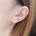 วัสดุ : อะลูมิเนียม เจาะหู 1 รู #earrings #earring #twinkle